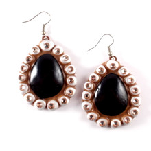 EARRINGS - BABY SUGAR black / white