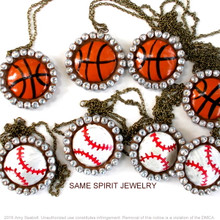 NECKLACE - CHOOSE YOUR SPORT (baseball, football, basketball, softball, volleyball)
