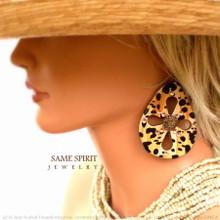 EARRINGS - WALKING ON THE SUN (Buttery Cheetah)