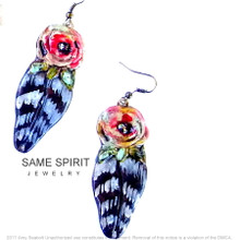 EARRINGS - Wild Child (rose and feather)