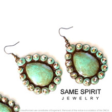 EARRINGS - BABY SUGAR (turquoise stone)