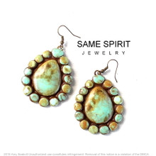 EARRINGS - BABY SUGAR teardrops (distressed turquoise)
