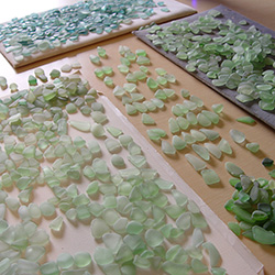 how we sort sea glass for earrings from thousands of pieces of natural beach found pieces