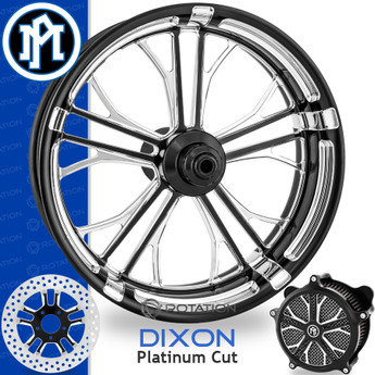 Performance Machine Dixon Platinum Cut Custom Motorcycle Wheel