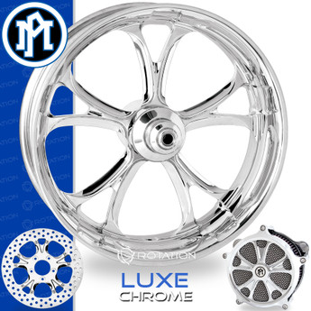 Performance Machine Luxe Chrome Custom Motorcycle Wheel