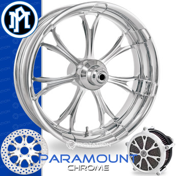 Performance Machine Paramount Chrome Custom Motorcycle Wheel