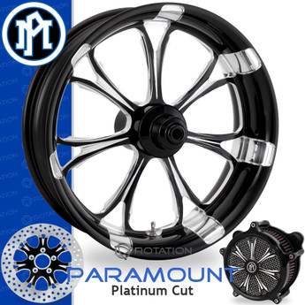 Performance Machine Paramount Platinum Cut Custom Motorcycle Wheel