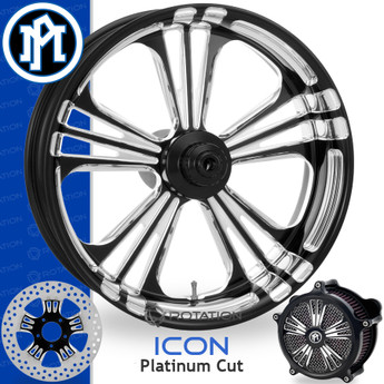 Performance Machine Icon Platinum Cut Custom Motorcycle Wheel
