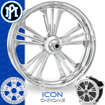 Performance Machine Icon Chrome Custom Motorcycle Wheel