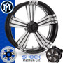 Performance Machine Shock Platinum Cut Custom Motorcycle Wheel