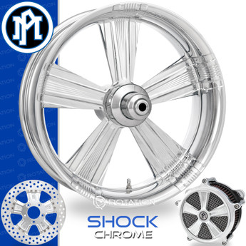 Performance Machine Shock Chrome Custom Motorcycle Wheel