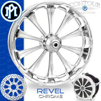 Performance Machine Revel Contour Chrome Custom Motorcycle Wheel