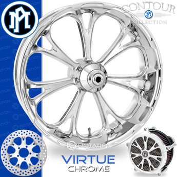 Performance Machine Virtue Contour Chrome Custom Motorcycle Wheel
