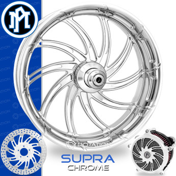 Performance Machine Supra Chrome Custom Motorcycle Wheel