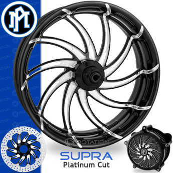 Performance Machine Supra Platinum Cut Custom Motorcycle Wheel