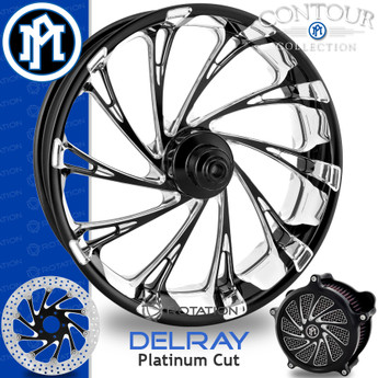 Performance Machine Virtue Contour Platinum Cut Custom Motorcycle Wheel