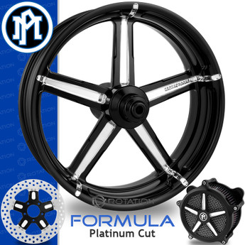 Performance Machine Formula Platinum Cut Custom Motorcycle Wheel