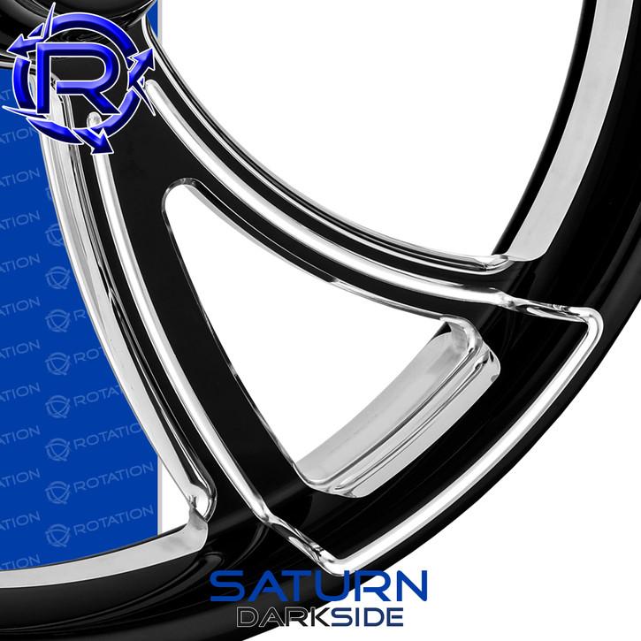 Rotation Saturn Darkside Custom Motorcycle Wheel