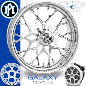 Performance Machine Galaxy Chrome Custom Motorcycle Wheel