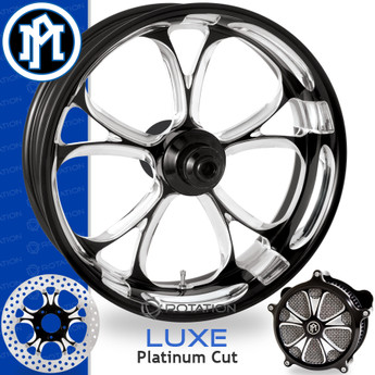 Performance Machine Luxe Contrast Cut Custom Motorcycle Wheel