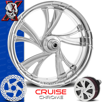 Xtreme Machine Cruise Chrome Custom Motorcycle Wheel