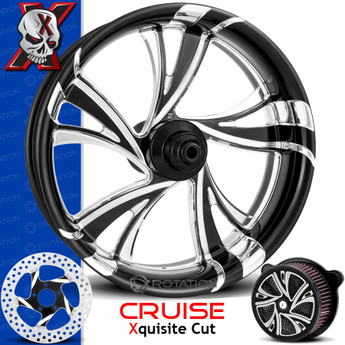 Xtreme Machine Cruise Xquisite Cut Custom Motorcycle Wheel