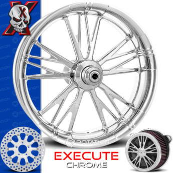 Xtreme Machine Execute Chrome Custom Motorcycle Wheel