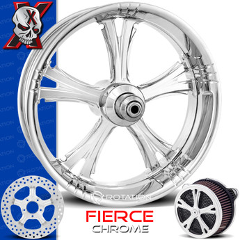 Xtreme Machine Fierce Chrome Custom Motorcycle Wheel