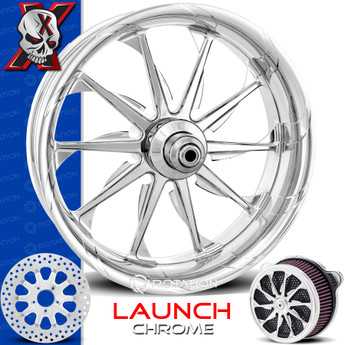Xtreme Machine Launch Chrome Custom Motorcycle Wheel