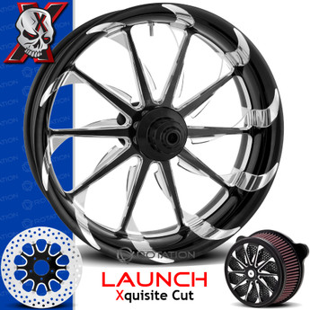 Xtreme Machine Launch Xquisite Cut Custom Motorcycle Wheel