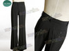 Optional item:     suit pants, made by satin twill in black, one pocket back $20.00