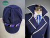 Optional item:     hat, made by satin twill in dark blue $15.00