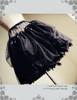 Lolita Tulle Skirt Midi Skirt A Line Steel Boned Petticoat Underskirt White Black