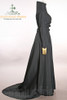Elegant Dark Sorceress Micro Suede Long Gown