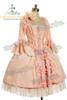 Victorian Rococo Lolita Jacquard Square Neckline Ball Dress*Knee Length, Jacquard