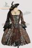 Victorian Rococo Lolita Brocade Square Neckline Ball Dress*Brocade Knee Length