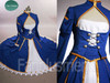 Fate Stay Night Cosplay, Saber Navy Blue Combat Outfit