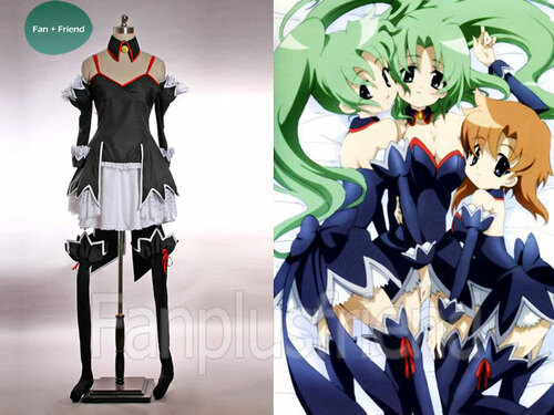 Higurashi Cosplay,Angel Mort Cafe Maid Outfit Set