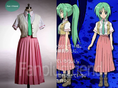 Higurashi Cosply,Mion Uniform Set*4pcs