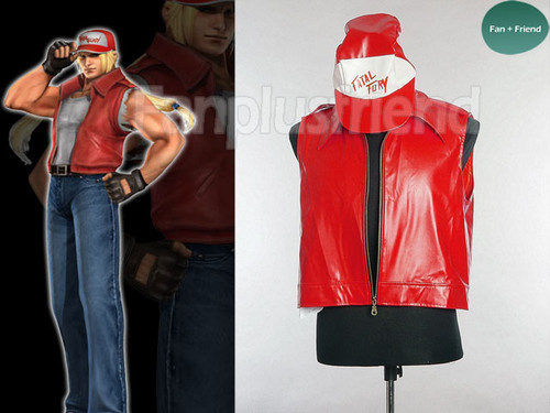 The King of Fighters Cosplay, Terry Bogard Costume, Vest and Hat!!