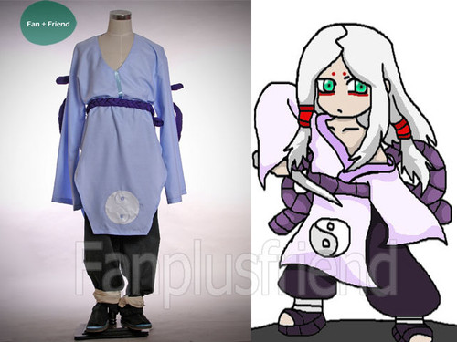Naruto Cosplay, Kimimaro Kaguya Kimono Set & Waist Rope