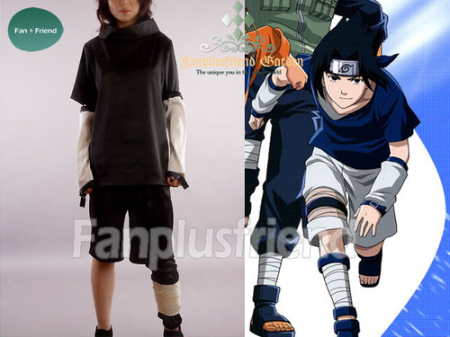 Naruto, New Black Version Sasuke Uchiha Cosplay Costume!