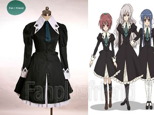 Strawberry Panic Cosplay, Gothic Lolita School Uniform Costume