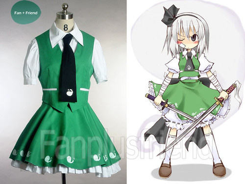 Touhou Project, Marmalade Philosophy Cosplay, Youmu Konpaku School Uniform Costume Set