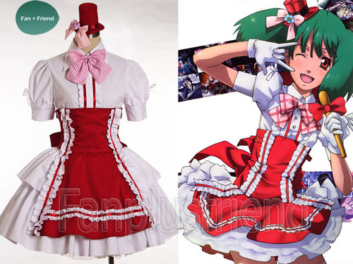 Special Offer: The Super Dimension Fortress Macross Cosplay Ranka Lee Maid Outfit*Lady 80 2colors Instant Shipping