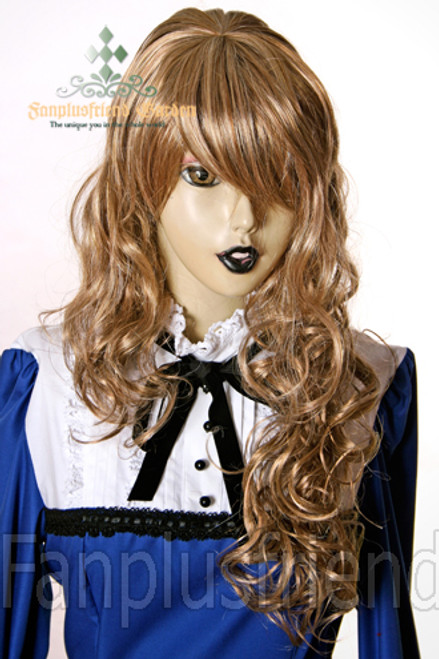 Last Chance: Gothic Lolita:Large Wavy Curls Long Wig*Blonde Mix