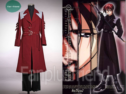 Weiss Kreuz / Knight Hunters / White Cross Cosplay, Aya Fujimiya Trench Set*4pcs