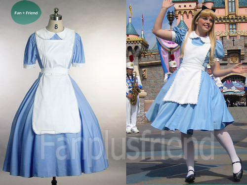 Disney Alice In Wonderland Cosplay, Original Fairy Tales Outfit