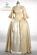 Vintage Elegant Gothic Victorian Bodice Corset Blouse & Square Long Skirt