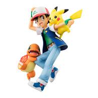 G.E.M. Series Pokemon Ash Ketchum&Pikachu&Charmander PVC Figure
